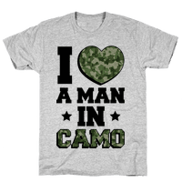 I Love a Man in Camo (Military Baseball Tee)