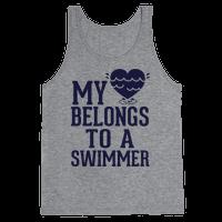 My Heart Belongs To A Swimmer Tank