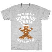 Gingerbread Running Team (White Ink)
