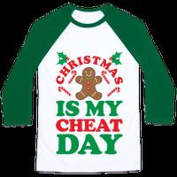 Christmas Is My Cheat Day Baseball