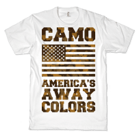 Camo America's Away Colors Tee