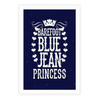 Barefoot Blue Jean Princess Poster