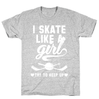 Yeah I Skate Like A Girl (White Ink)