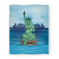 Statue of Liberty Mermaid (Blanket)