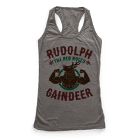 Rudolph The Red Nosed Gaindeer Racerback