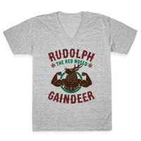 Rudolph The Red Nosed Gaindeer Vneck