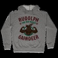 Rudolph The Red Nosed Gaindeer Hoodie