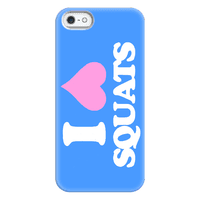 I (Heart) Squats, Love Weightlifting Phonecase