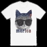 Merica Cat Tee