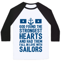 God Found The Strongest Hearts (Navy Baseball Tee)