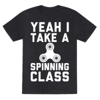 Yeah I Take A Spinning Class White Print