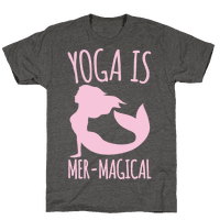 Yoga Is Mer-Magical White Print