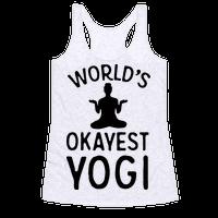 World's Okayest Yogi Racerback