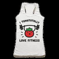 I Tomatotally Love Fitness Racerback