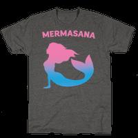 Mermasana Parody White Print