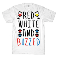 Red, White And Buzzed Tee