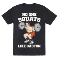 No One Squats Like Gaston Parody White Print Tee