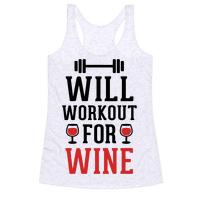 Will Workout For Wine Racerback