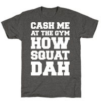 Cash Me At The Gym White Print