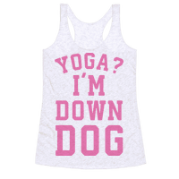 Yoga I'm Down Dog Racerback