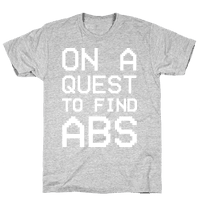 On A Quest To Find Abs White Print