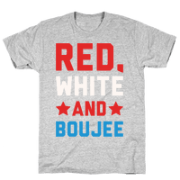 Red White And Boujee White Print