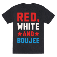 Red White And Boujee White Print Tee