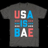 USA is BAE (White) Tee
