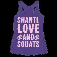 Shanti Love and Squats White Print
