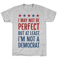 I May Not Be Perfect but at Least I Am Not a Democrat
