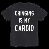 Cringing Is My Cardio White Print