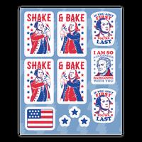 Shake & Bake Patriotic Stickers Sticker