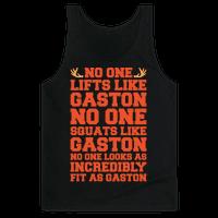 No One Lifts Like Gaston Parody White Print Tank