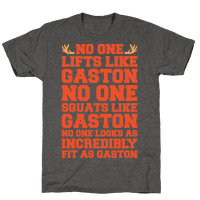 No One Lifts Like Gaston Parody White Print Tee