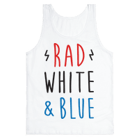 Rad White & Blue Tank
