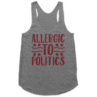 Allergic To Politics Racerback